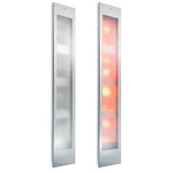 80015 sunshower deluxe uv en infrarood inbouw 187x32 cm wit