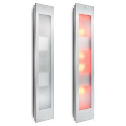 80052 sunshower combi white uv en infrarood opbouw 144x29 cm wit