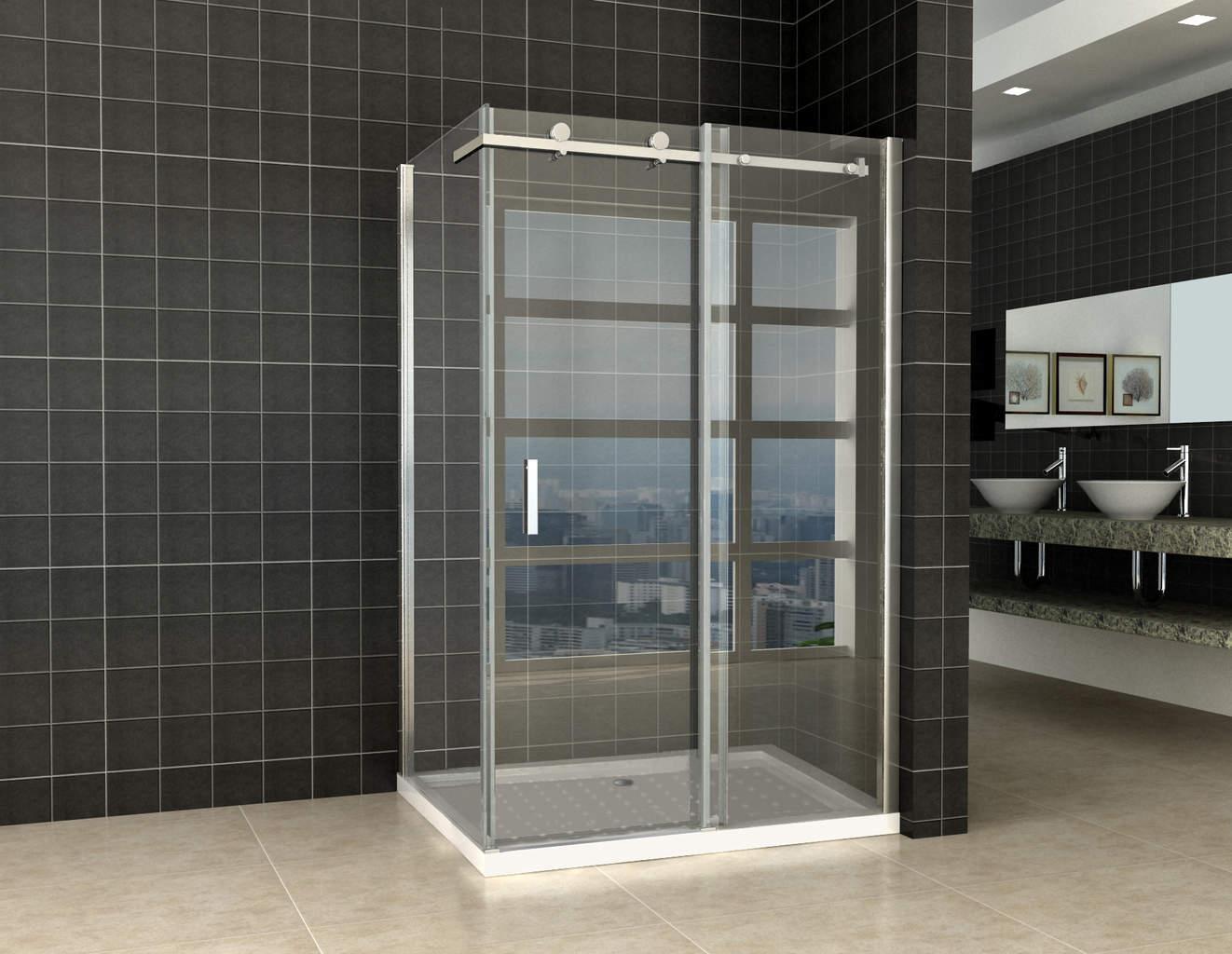 Douchewand Glas 90 Cm.Douchedeur Zijwand 1200 X 900 X 2000 Mm 8mm Nano Glas Megadump