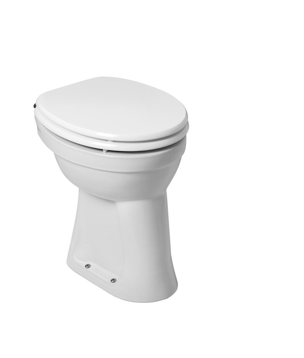 Verhoogde Toiletpot 6.Staande Verhoogde Toiletpot 6 Ao Wit
