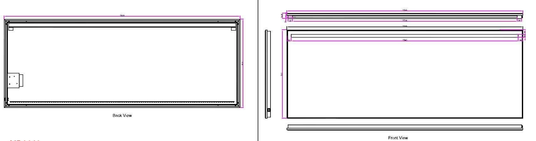 wb ambi one led condensvrije spiegel 160x60 megadump. Black Bedroom Furniture Sets. Home Design Ideas