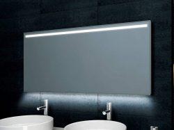 Spiegel Met Klok : Spiegel met verlichting en digitale klok 58cm megadump