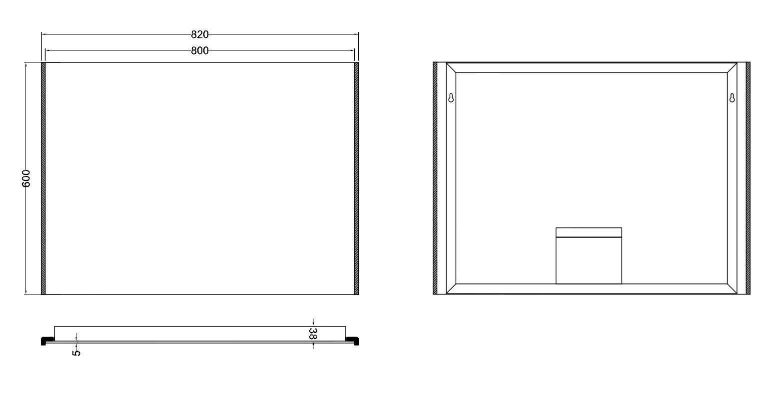 Wundervoll WB Duo-Led condensvrije spiegel 80 x 60 | Megadump ET64