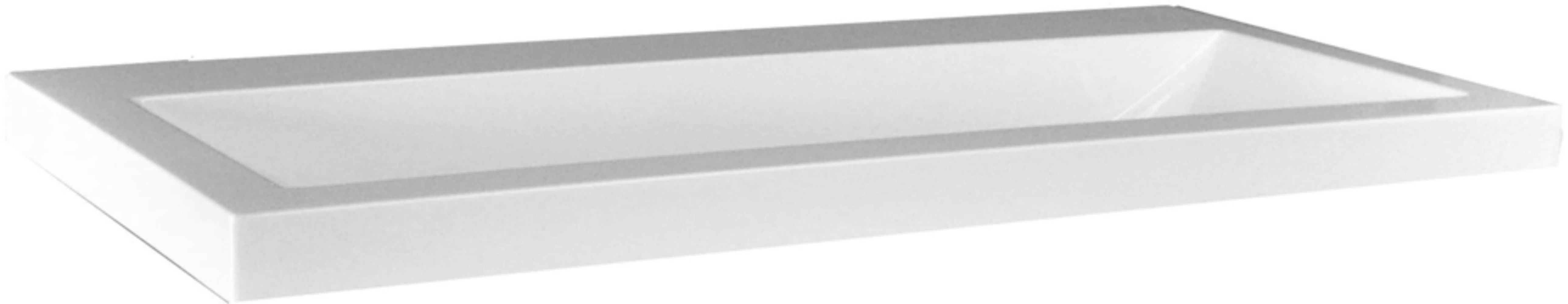 wiesbaden wastafel 80cmx36cm zonder kraangat wit megadump
