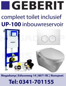 vlakspoel toilet met geberit inbouwreservoir