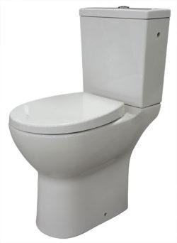 Duoblok verhoogd toilet design | Seniorentoilet wit +8