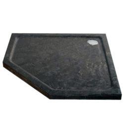 Douchebak hardsteen natuursteen vijfhoek 90×90