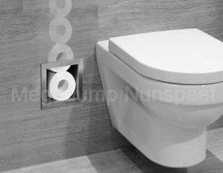 rvs inbouw-nis voor closetrollen