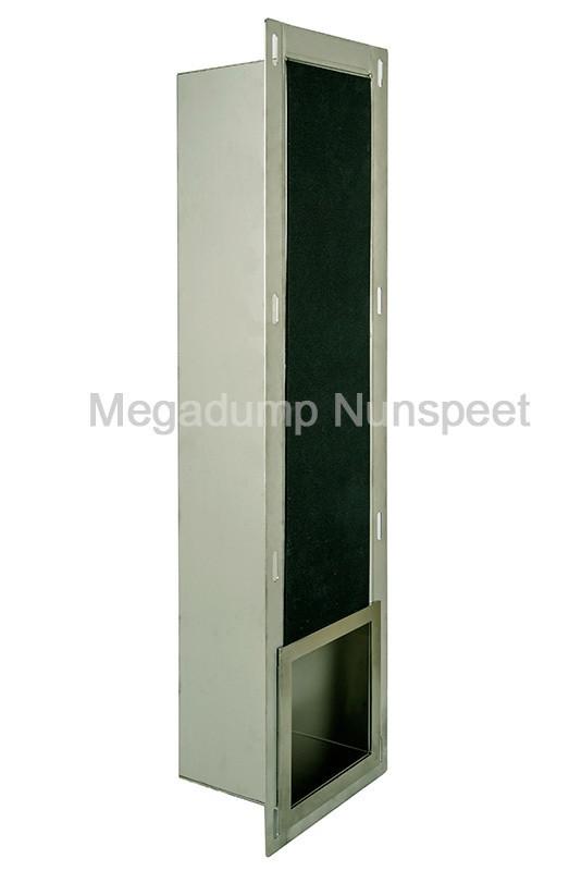 Rvs Inbouw Toiletrolhouder Voor 6 Closetrollen Megadump