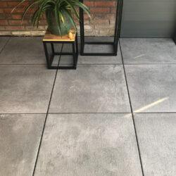 Keramische tuintegels terrastegels keramiek 60×60 grijs