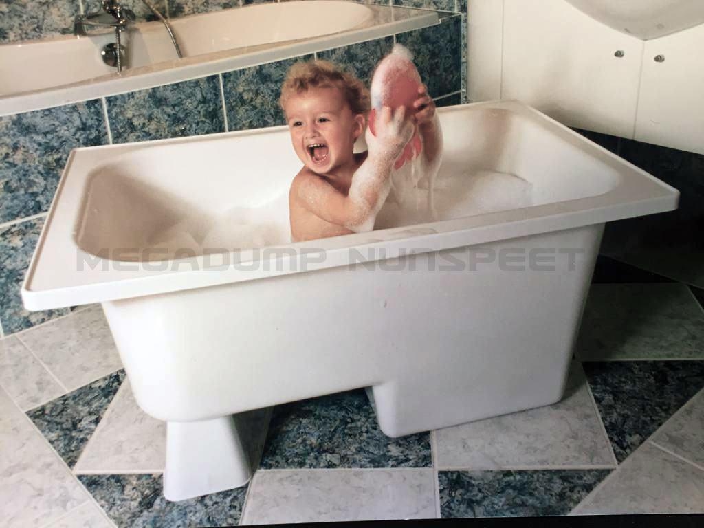 Beste Zitbad Marinella 105x65x52 wit | Vrijstaand kinderbadje | Megadump AX-45