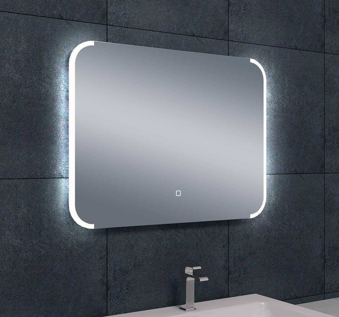 Bracket dimbare led condensvrije spiegel 800x600 megadump for Badkamer spiegel 60x80