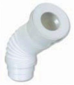 Flexibele uittrekbare closetaansluitstuk 110/103 wit
