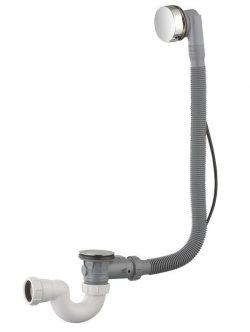 Luxe badplug-overloopcombinatie + waste chroom