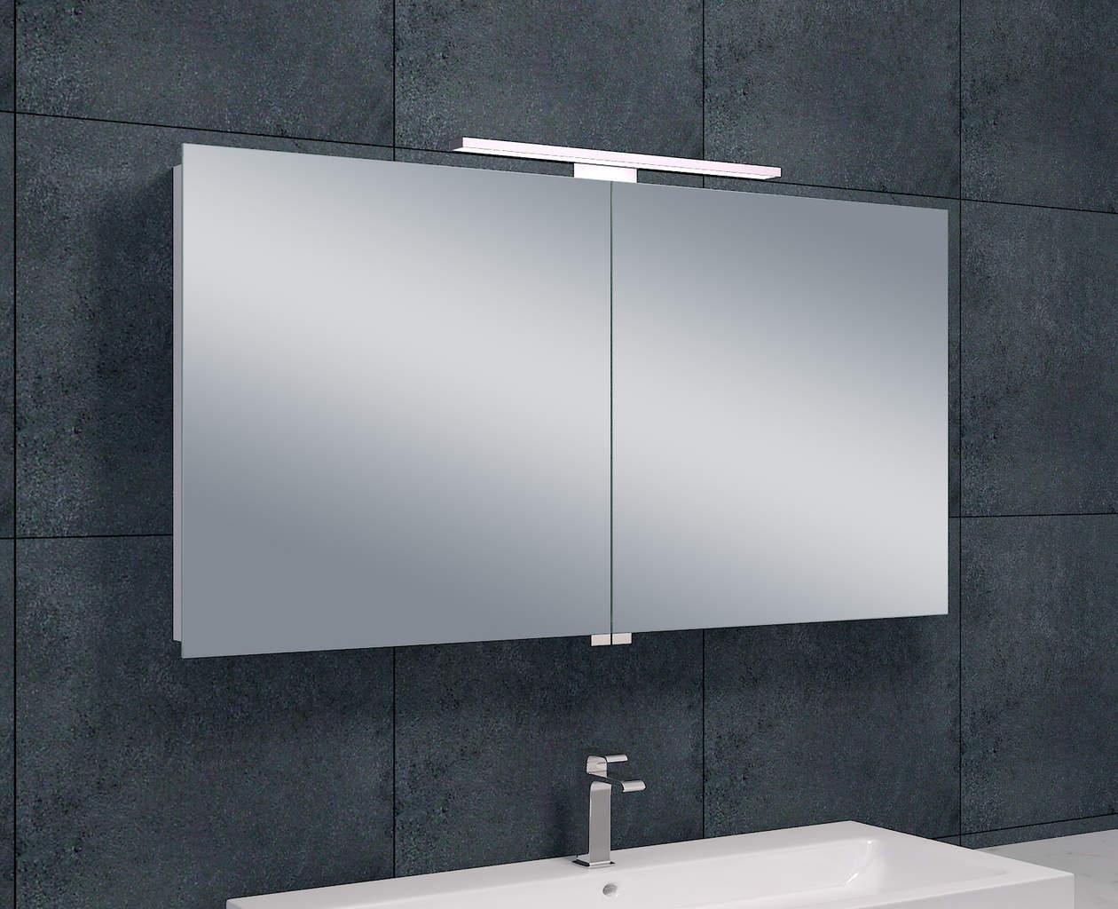 Luxe spiegelkast led verlichting 120x60x14cm megadump for Spiegelkast 60 cm breed