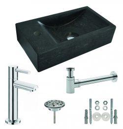 One Pack Hardstenen fontein 40x22x10 links compl.