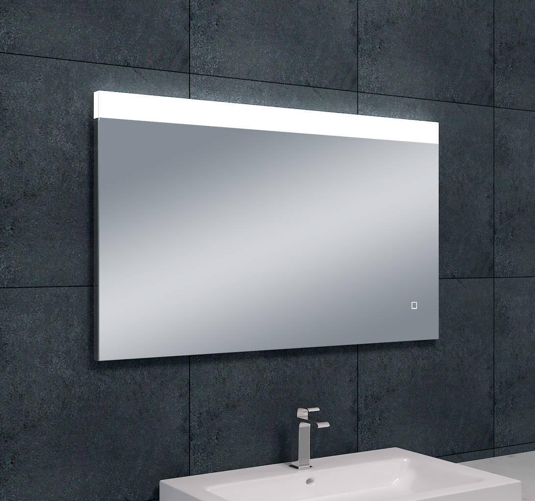 single dimbare led condensvrije spiegel 1000x600 megadump. Black Bedroom Furniture Sets. Home Design Ideas