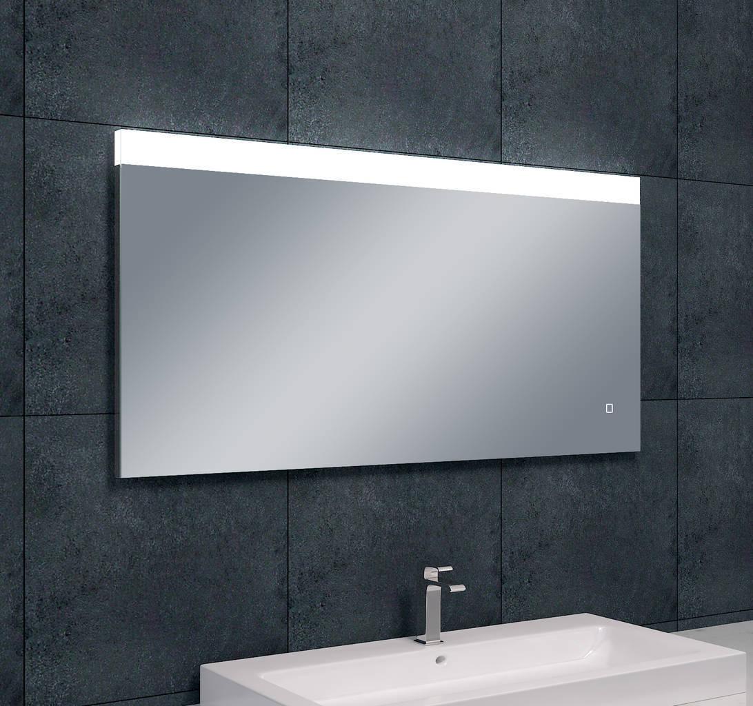 Single dimbare led condensvrije spiegel 1200x600 megadump for Led spiegel