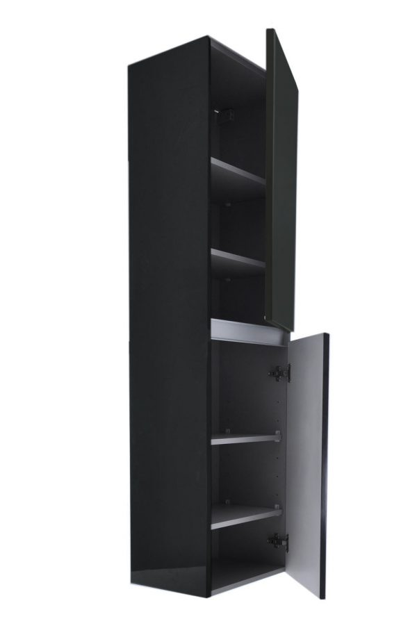 Vision kolomkast 2 deuren 160x35x35 hoogglans grijs