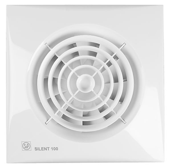 Badkamer ventilator met timer Silent 100-CRZ | Megadump