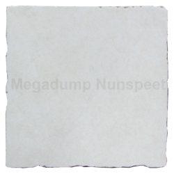 getrommelde tegels 15x15 wit