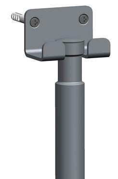 luxe chroom badkamer-vloerwisser+ophanging | Megadump
