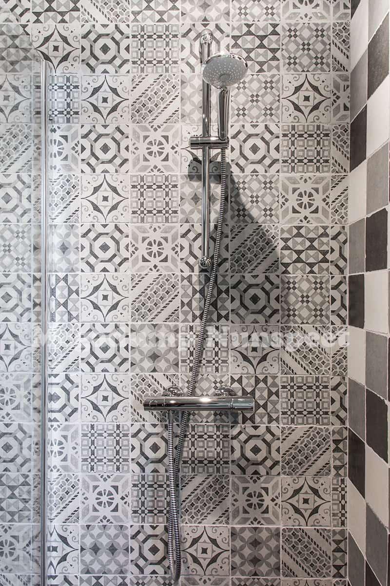 Getrommelde tegels 15 x 15 cm zwart wit grijs mix | Megadump