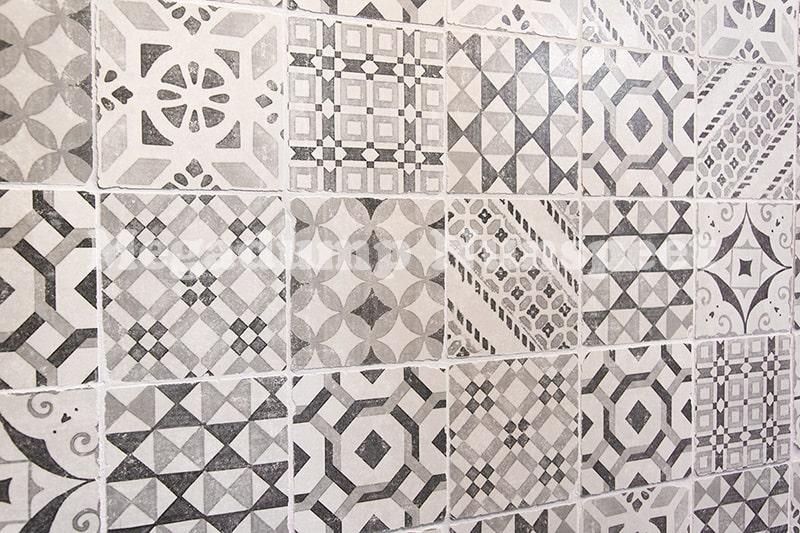 Retro Wandtegels Badkamer : Getrommelde keramische vintage tegels 15 x 15 cm mix megadump