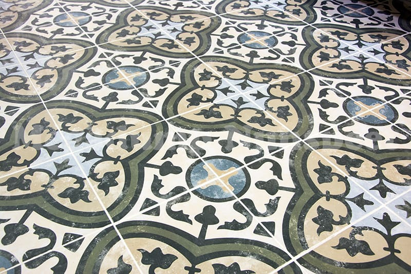 Keramische Portugese Tegels : Keramische portugese vintage vloertegels 25x25 met motief