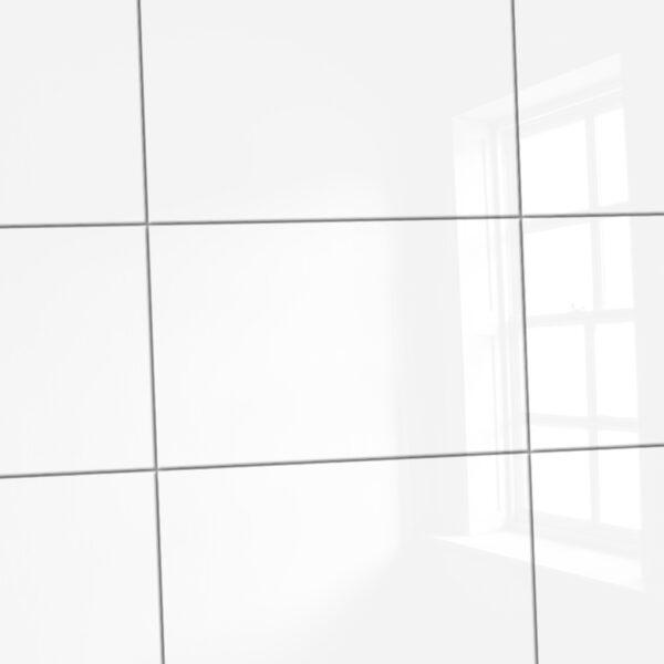 Wandtegels glans wit 25×40 cm