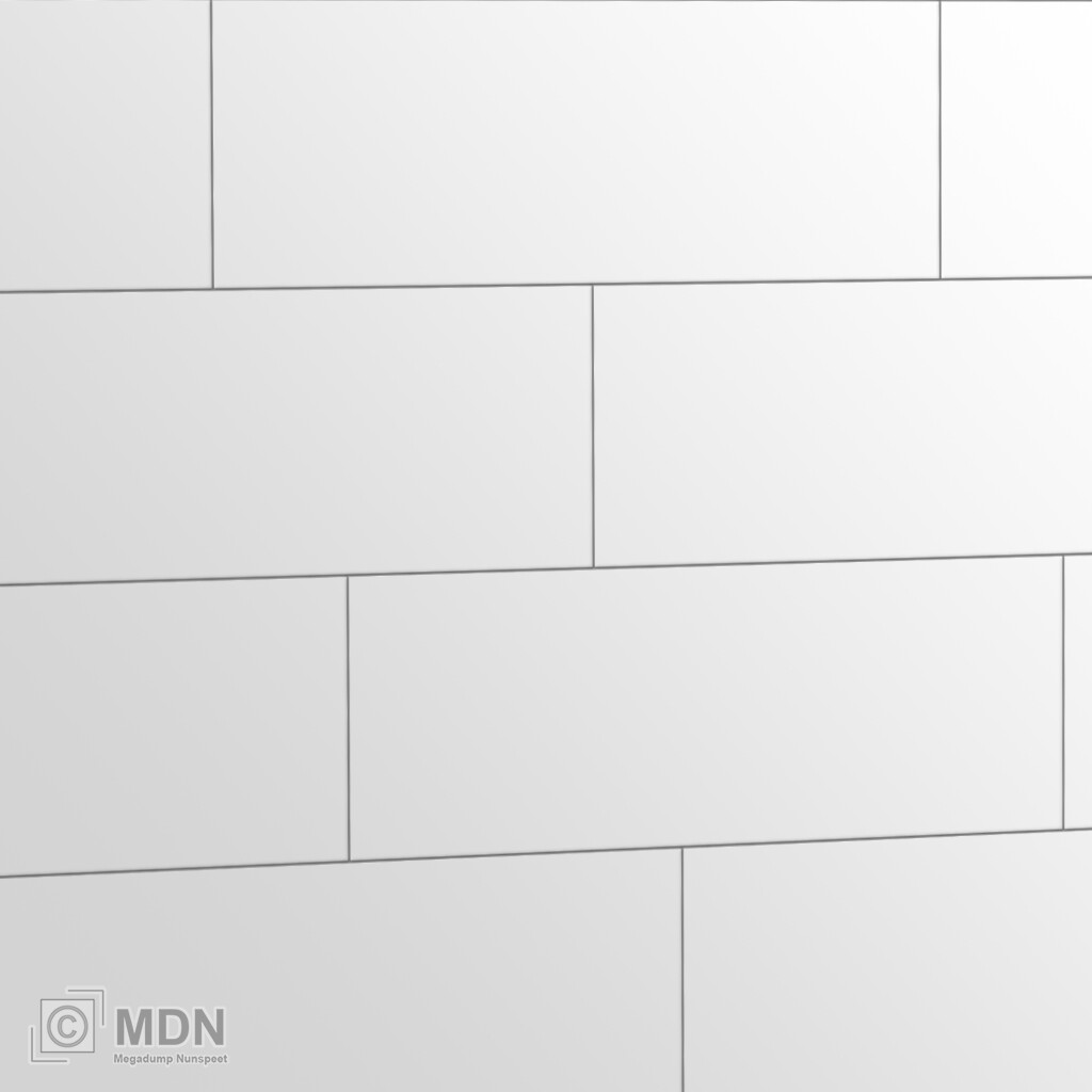 Wandtegels Mat Wit 20x60 Cm Megadump