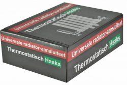 Luxe thermostatische radiator aansluitset haaks