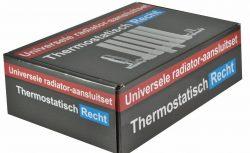 Luxe thermostatische radiator aansluitset recht