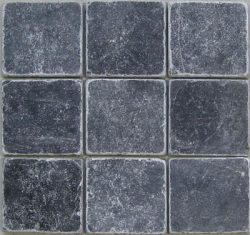 Getrommeld marmer natuursteen 10x10 Karia Black