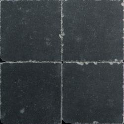 Getrommelde keramische vloertegels zwart 20x20