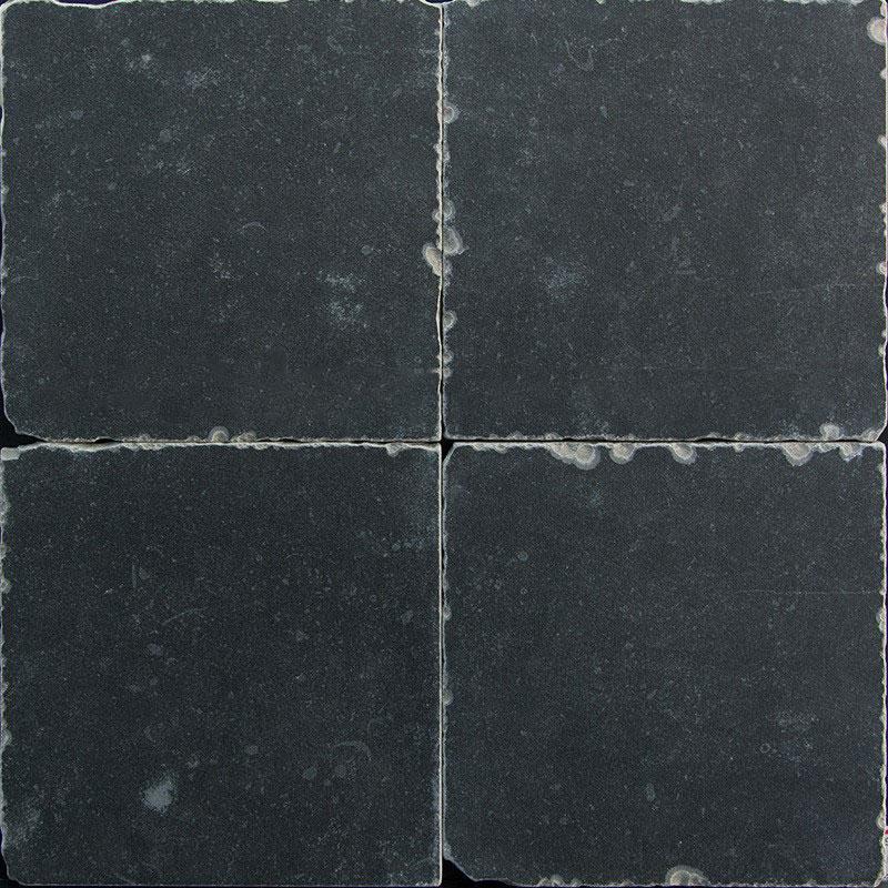 Getrommelde Keramische Vloertegels.Getrommelde Keramische Vloertegels Zwart 20x20