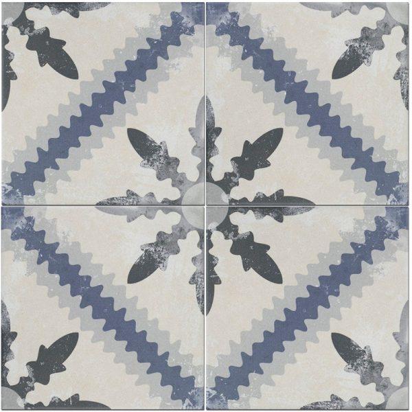 Keramische portugese vintage vloertegels star 25 x 25 cm
