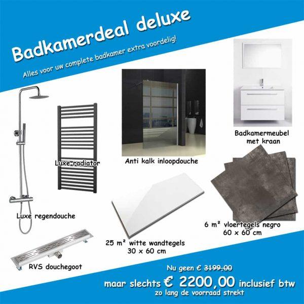 Badkamerdeal deluxe complete badkamer