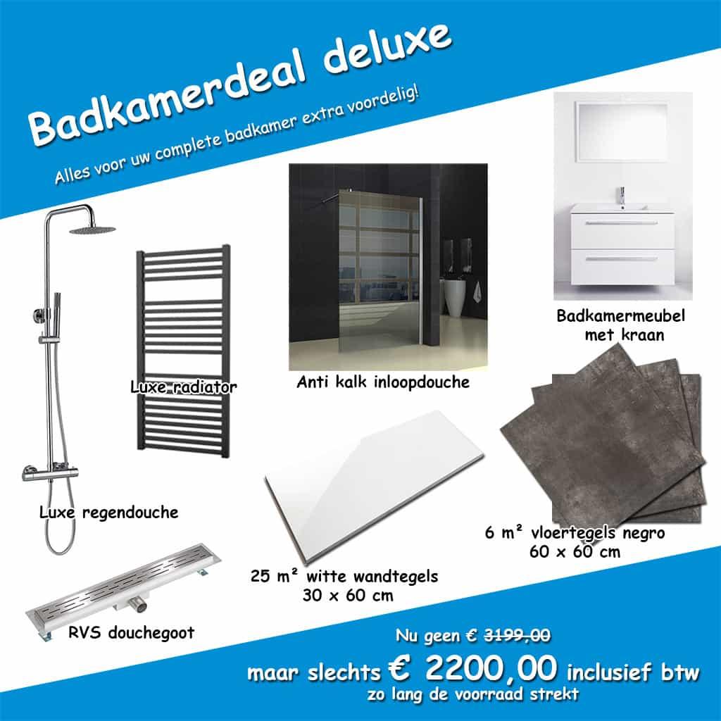 Megadump complete badkamers goedkope tegels en sanitair for Complete badkamer aanbieding