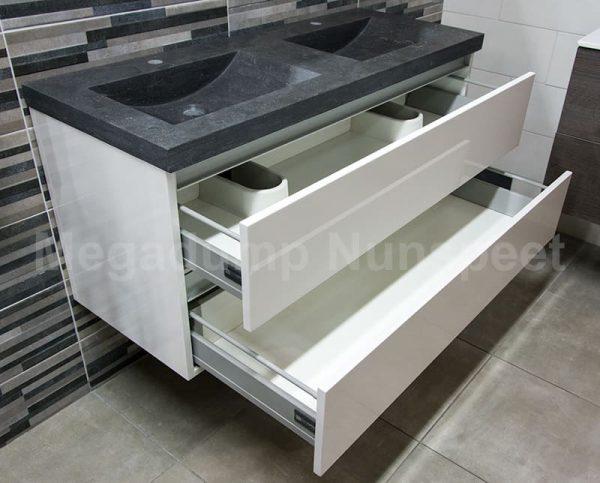 Beroemd Badkamermeubel hardsteen wastafel en dubbele spoelbak | Megadump &QR79