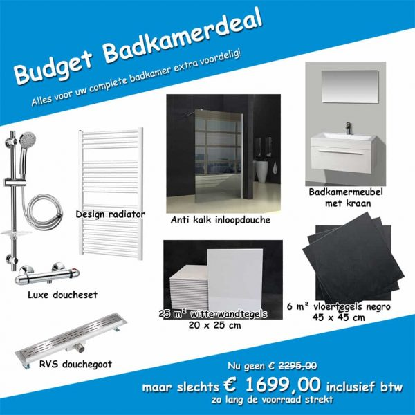 budget badkamerdeal