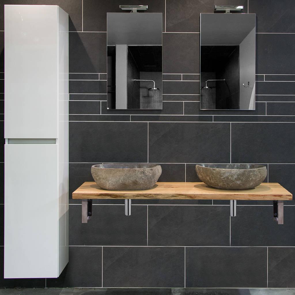 moetz badkamermeubel houten wastafel waskomen megadump