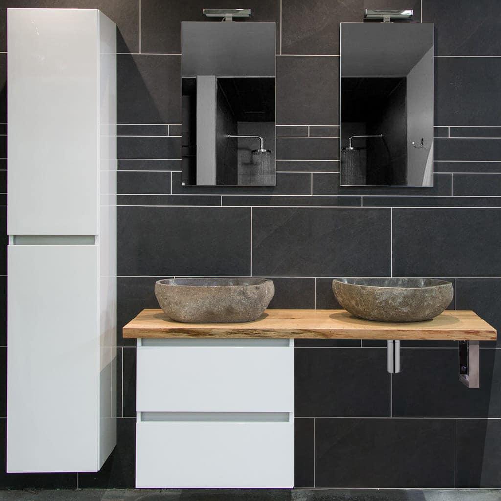 Moetz badkamermeubel houten wastafel + waskomen | Megadump