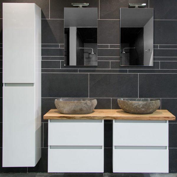 Moetz badkamermeubel met natuursteen waskommen