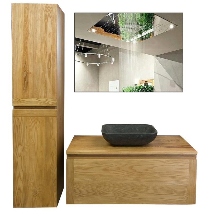 Vision Houten badkamermeubel wood top 100   Megadump