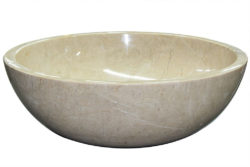 Waskom marmer beige crema nova - natuursteen beige
