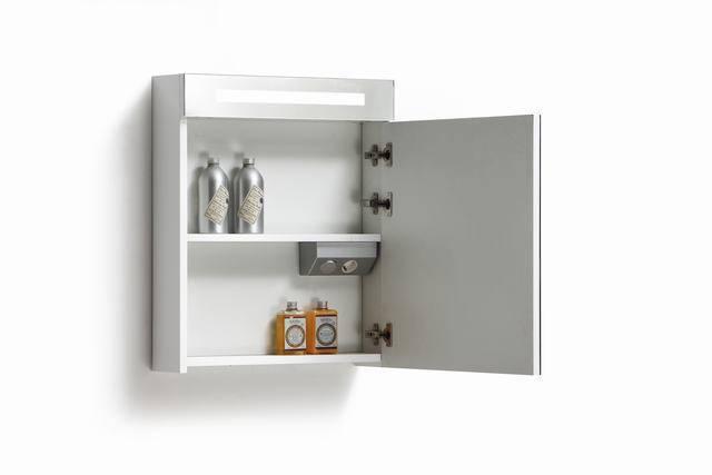 spiegelkast 58 met tl verlichting stopcontact en schakelaar in 5 kleuren