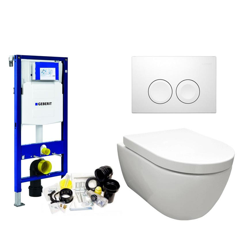 Populair Geberit compleet toilet met Rim-free wandcloset zonder spoelrand DO51