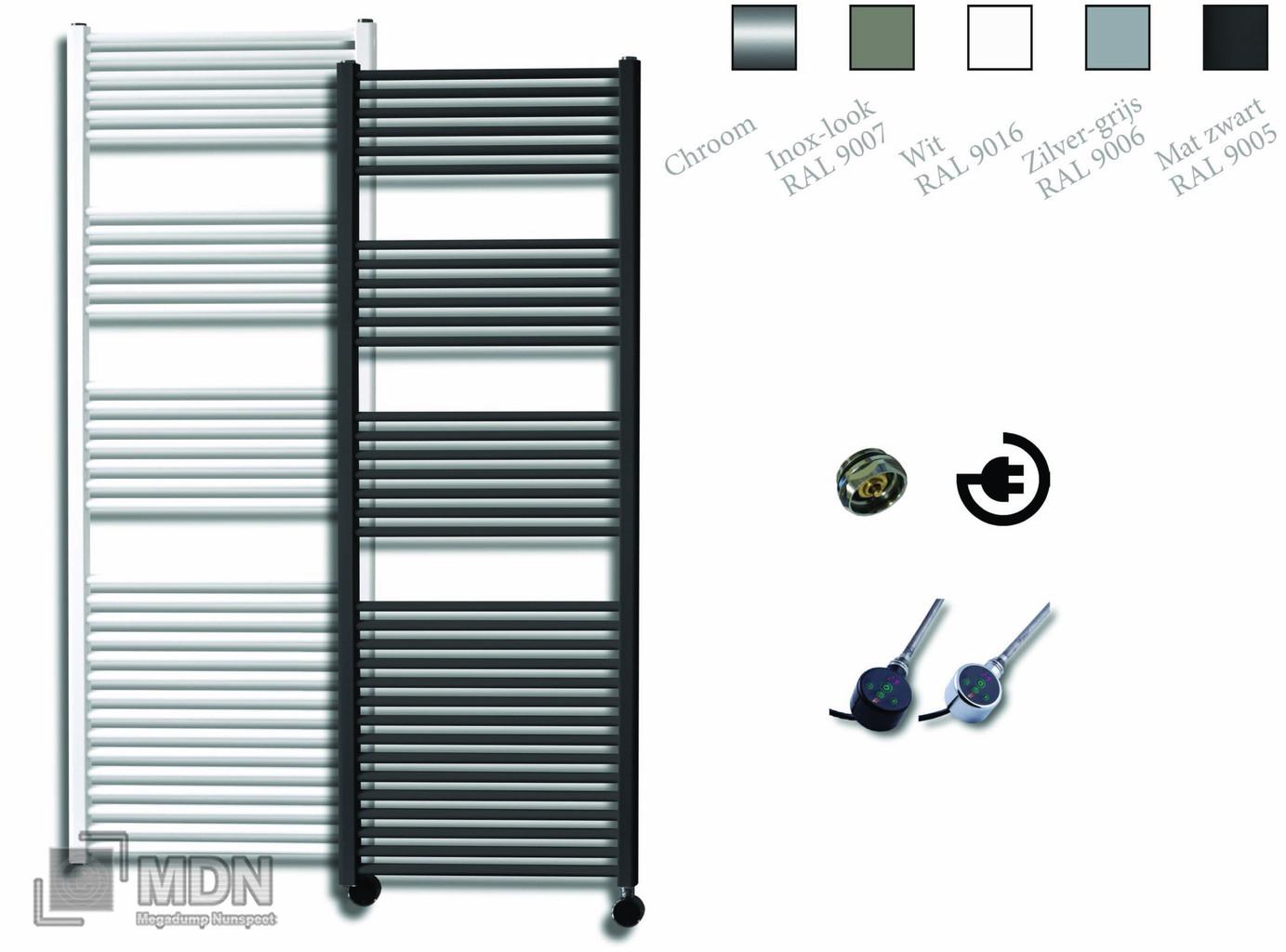 Sanicare Electrische Design Radiator 172 X 60 Cm Met Thermostaat Zwart Megadump