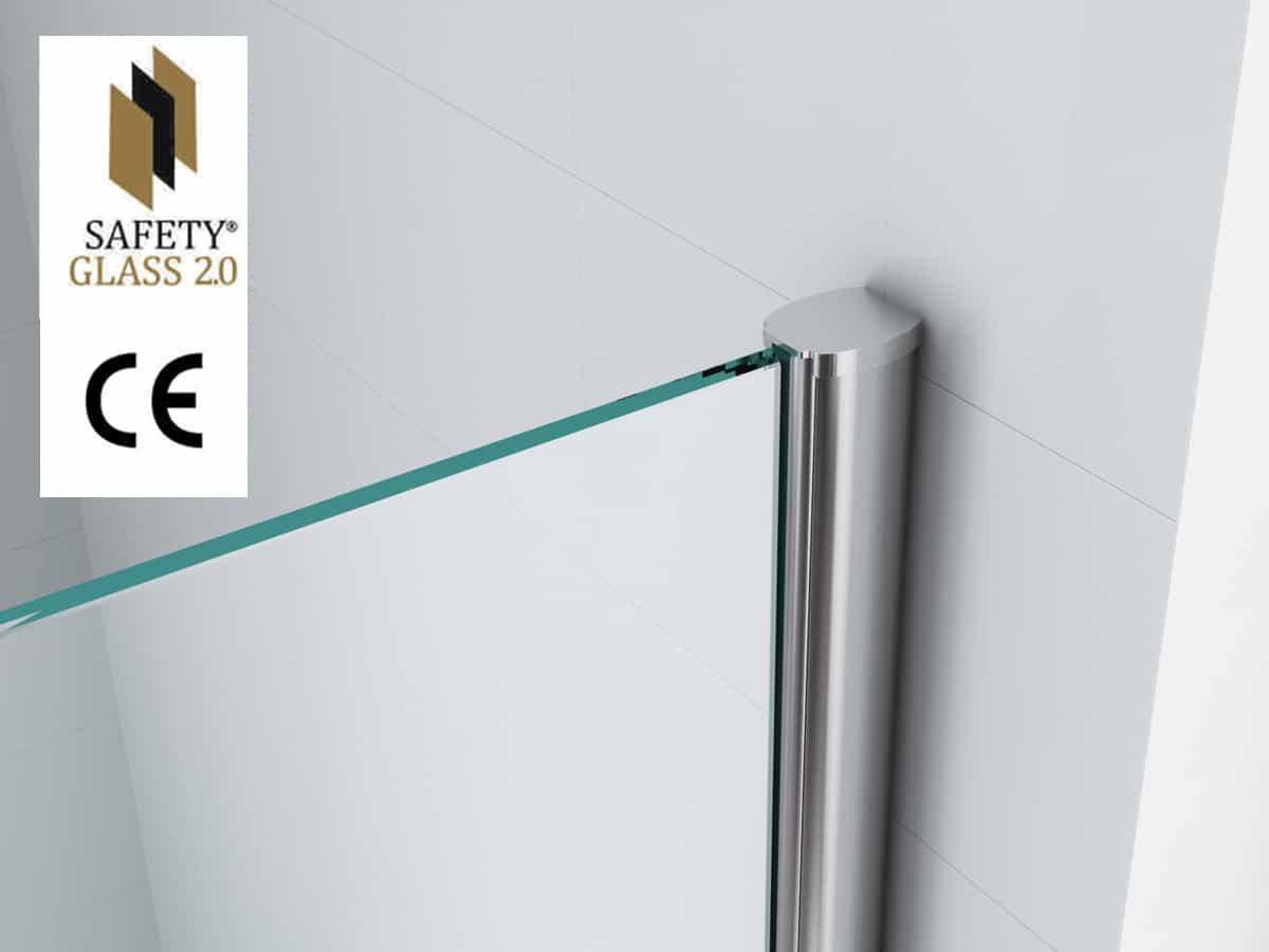 Inloop douche safety glass 10mm nano megadump